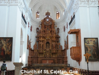 church of st. cajetan, goa